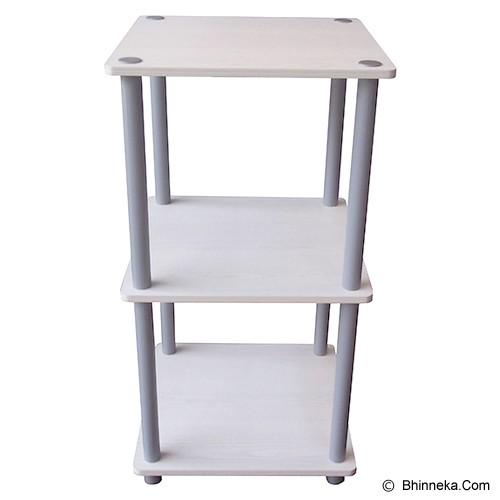 FUNIKA 3 Tier Mini Square Shelf [11213] - White - Rak Mini